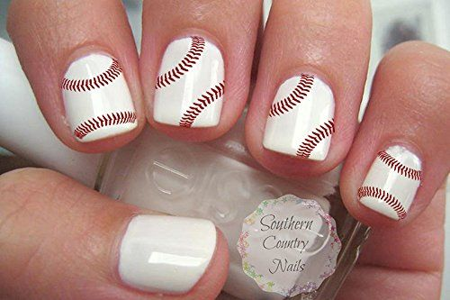 40 Sports Baseball Nail Art Designs Decals -- Want additional info? Click on the image. Note:It is Affiliate Link to Amazon.