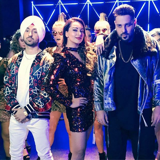 Check out Sonakshi Sinha shoots a song 'MYL' for Noor with Diljit Dosanjh and Badshah-1