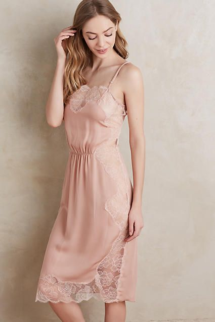Rose Lace Silk Slip - anthropologie.com