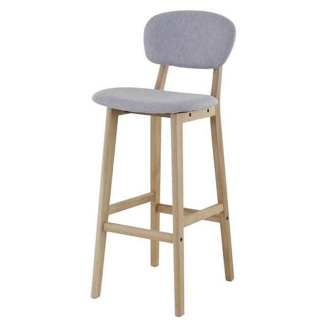 Chaise De Bar Tissu Et Chene Hana X2 Zago La Redoute Chaise Bar Tabouret Design Et Tabouret Reglable