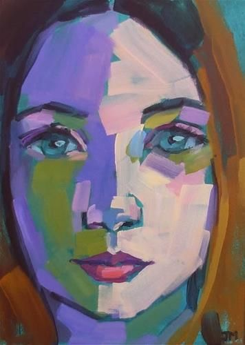 """Half-Hour Portrait"" - Original Fine Art for Sale - © Jessica Miller"