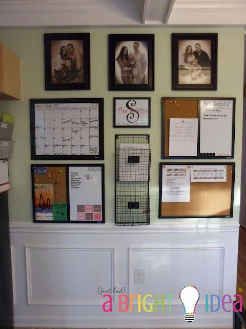 Family organization wall