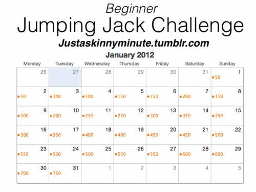 Fitspiration 30 Day Challange Fitness Jumping Jack