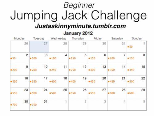 fitspiration 30 day challange Jumping jack challenge