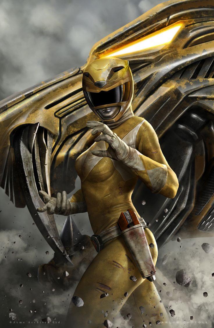 ArtStation - Yellow Ranger, Carlos Dattoli