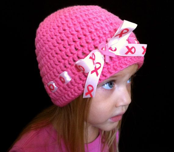 Pink Breast Cancer Awareness Crochet Beanie by TheresesBoutique, $16.00