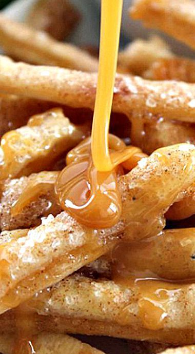 Apple Pie Fries ~ Dip Them in Caramel or Even Whipped Cream for Extra Yumminess.