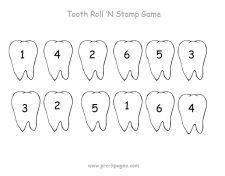tooth roll stamp...lots of roll stamp pages for all themes