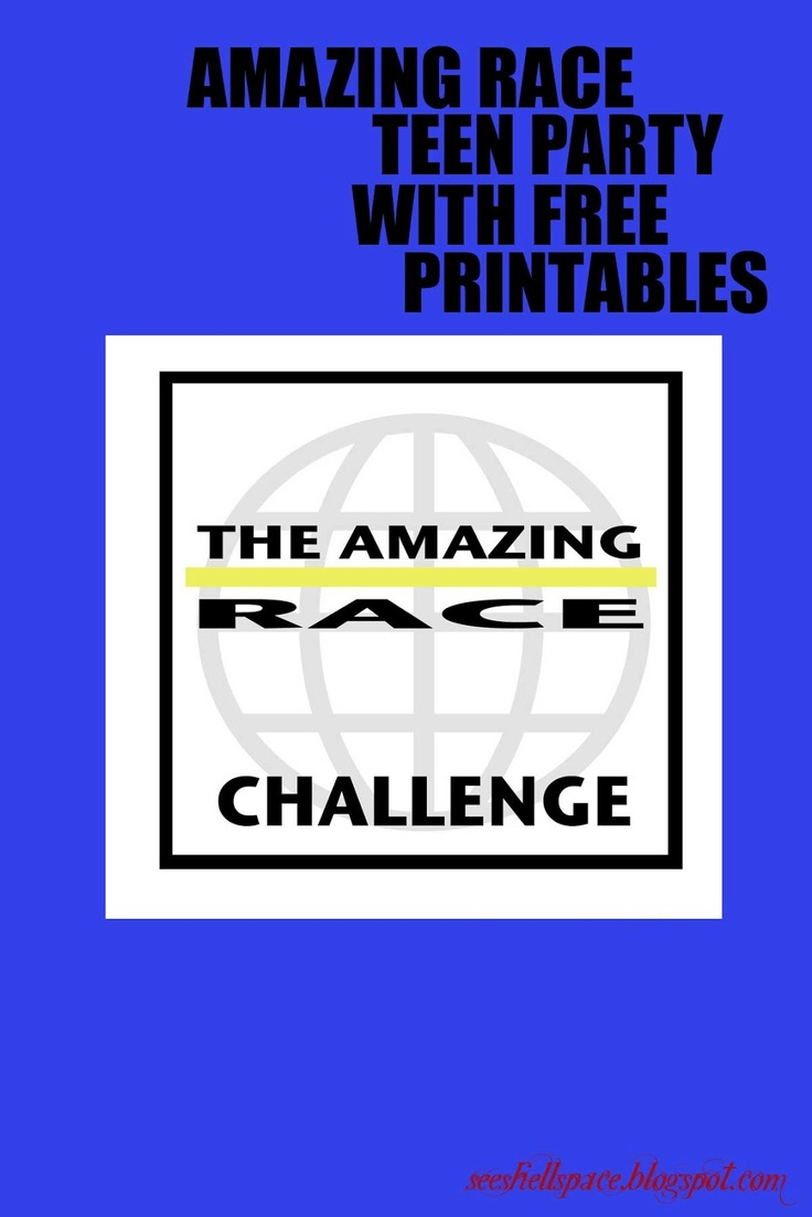 Amazing race ideas - Seeshellspace It Was An Amazing Race Teen Birthday Party Full Of Details