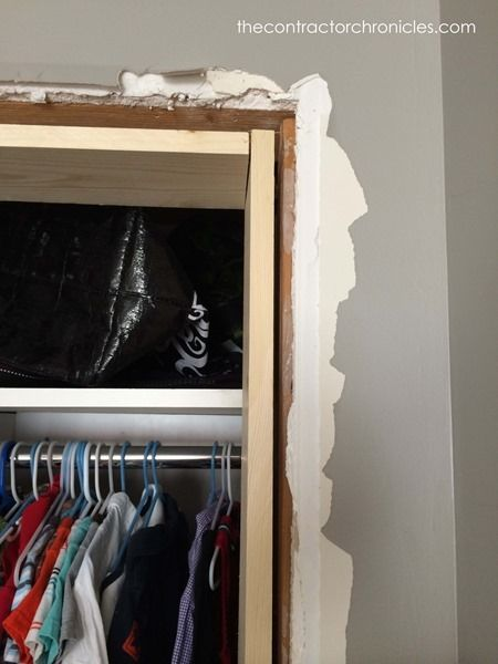 how to build closet door frame