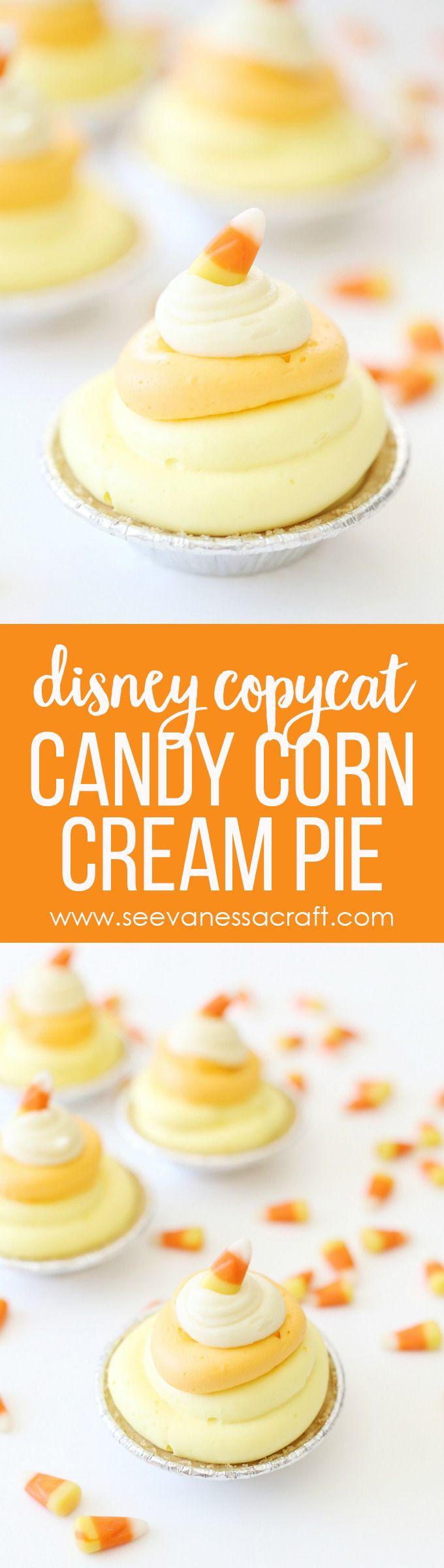 Disneyland Cars Land Copycat Candy Corn Cream Mini Pie Recipe copy