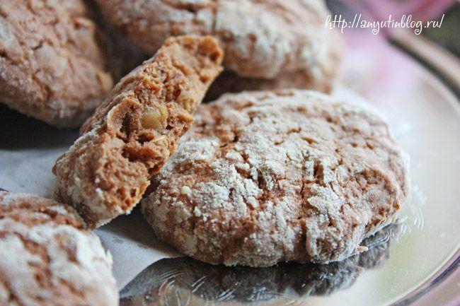 Шоколадное овсяное печенье