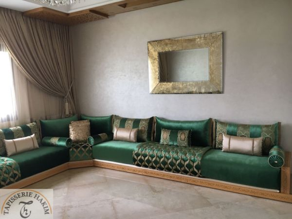 Salon marocain – salon marocain design – deco – TAPISSERIE HAKIM