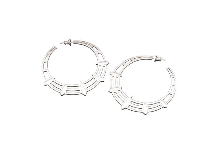 Liberty hoop earrings (white)