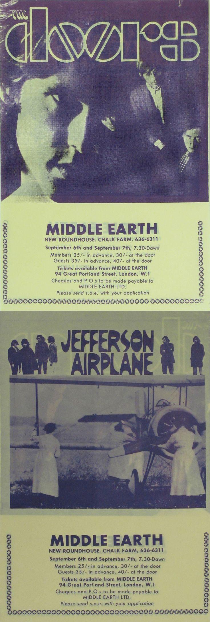The Doors & Jefferson Airplane Concert Handbill