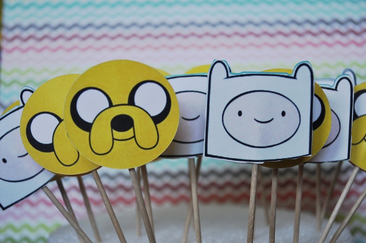 Adventure Time Cupcake Toppers-I can make these