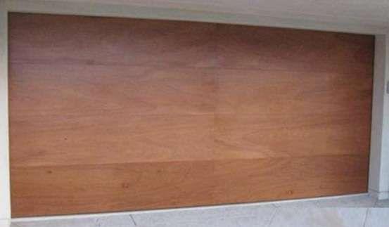 Contemporary Flush Panel Wood Garage Doors [Design#33] ContemporaryFlushWood_33 | Wood Garage Doors $940