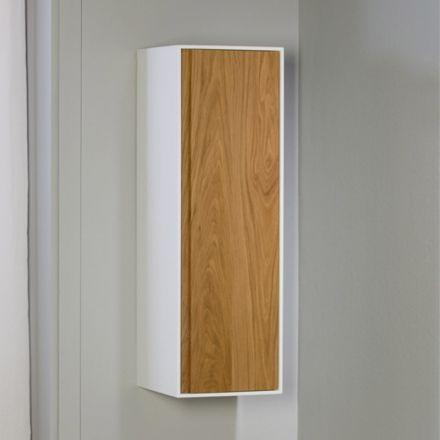 Demi colonne de rangement suspendu pour salle de bain for Colonne salle de bain une porte