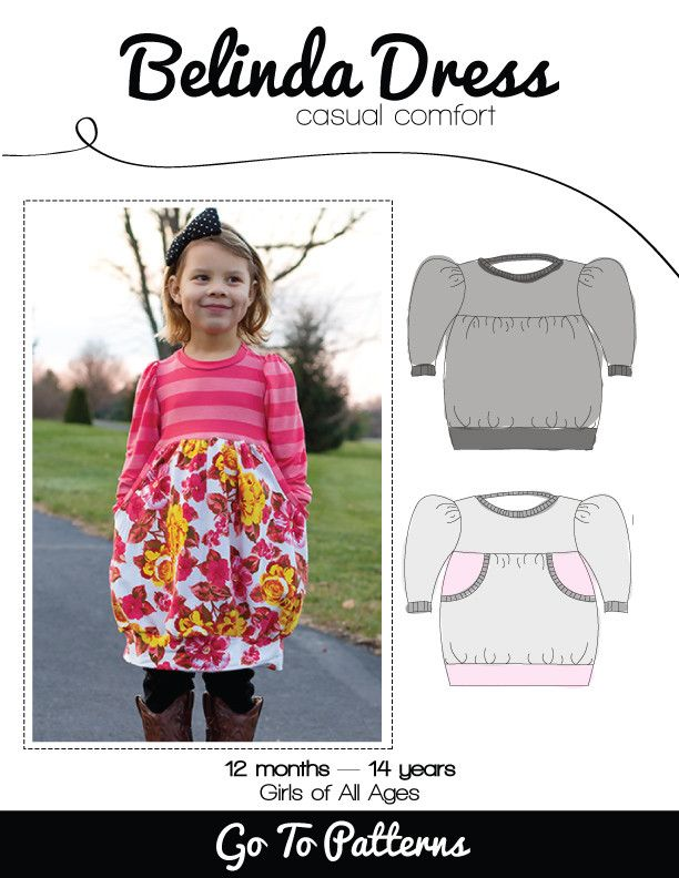 Belinda Dress sewing pattern for girls - So Cute!