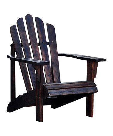 Loving this Burnt Brown Westport Adirondack Chair on #zulily! #zulilyfinds