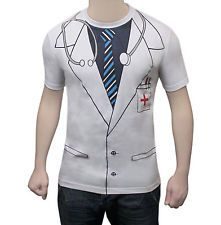 Da Uomo Stampata T SHIRT Fancy Dress Costume Party Casual T Shirt Doctor in uscita