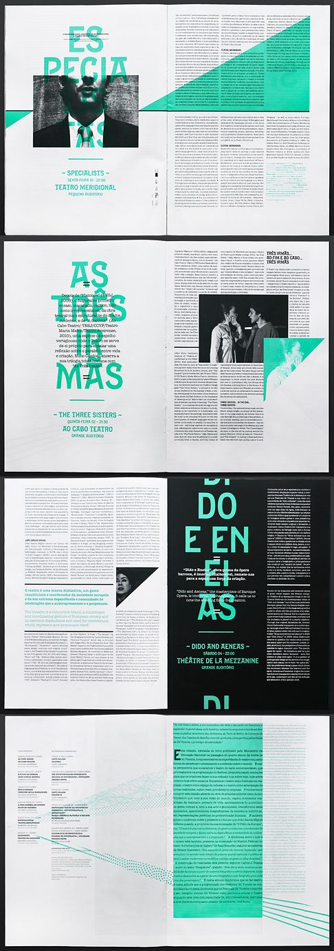 Editorial Design // Blocksatz / Mintgrün
