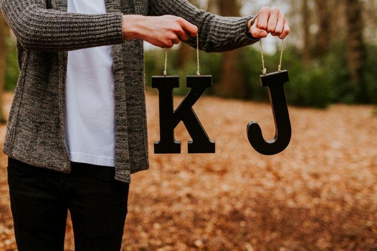 K & J engagement shoot. Photo by Benjamin Stuart Photography #weddingphotography #weddingideas #engagementshoot #initials