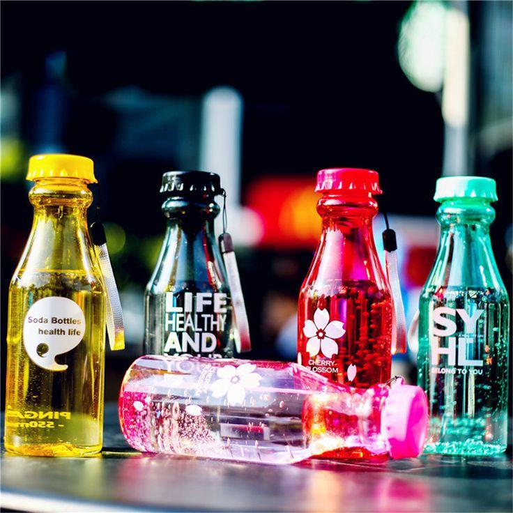 18 cores bicicleta esportes unbreakable leak proof portátil xícara de suco de 550 ml de plástico garrafa de água correndo camping lemon em Garrafas de água de Home & Garden no AliExpress.com | Alibaba Group