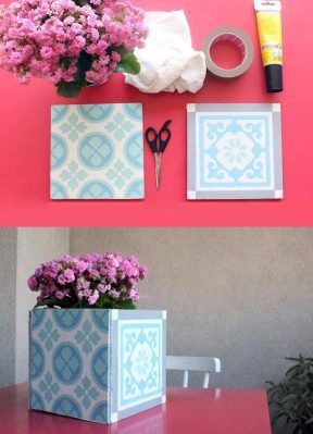 DIY: Florero hecho con azulejos
