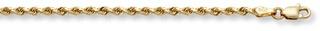 applesofgold.com - 2.5mm Rope Bracelet, 14K Solid Gold