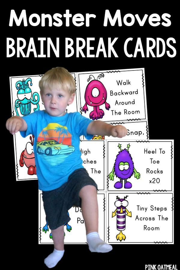 Brain Breaks and Gross Motor Ideas - The monster theme adds fun to moving!