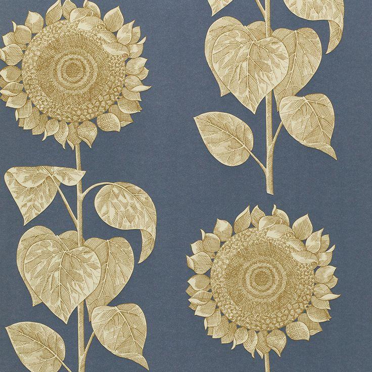 Discover the Sanderson Palladio Sunflower Wallpaper - DVIWPA103 at Amara
