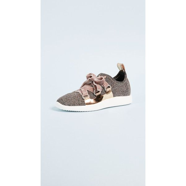 Giuseppe Zanotti Singles Sneakers ($795) ❤ liked on Polyvore featuring shoes, sneakers, giuseppe zanotti trainers, giuseppe zanotti sneakers, velvet shoes, metallic shoes and glamorous shoes