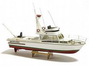 The Billing Boats 1/15 White Star Motorboat wooden ship model measures 54cm long, 30cm high and 16cm wide. This wooden boat kit is highly realistic with many fine details.