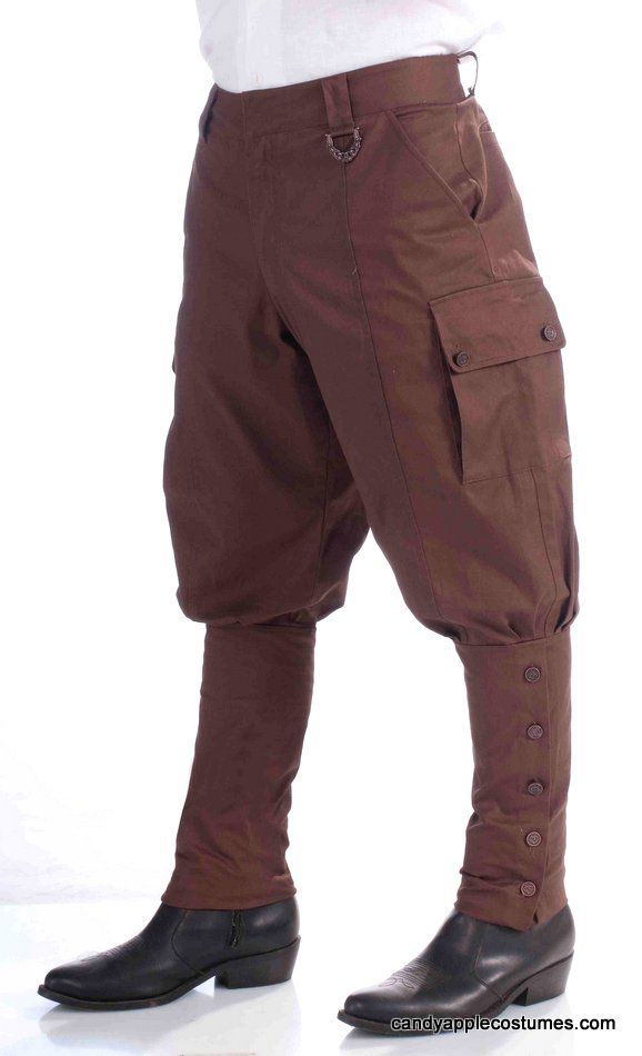 cheap mens pants. Hard to find!   Adult Steampunk Costume Pants - Aviator Costumes - Candy Apple Costumes