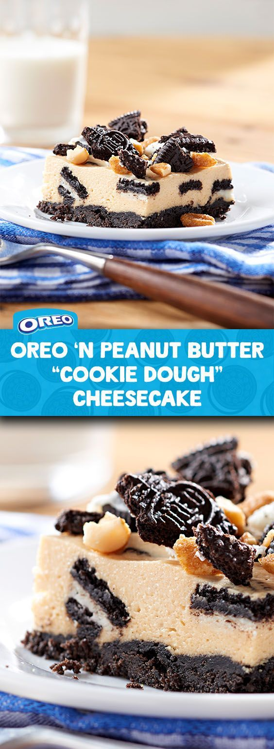 Now here's a cheesecake recipe that's worthy of a gold medal. Made with classic OREO cookies, luscious cream cheese and smooth peanut butter, and topped with crunchy honey-roasted peanuts; this dessert unites everyone's favorite flavors in one yummy cheesecake. Makes 24 servings and is great for a crowd!