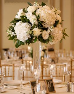 Weddingchannel Galleries Tall White Reception Centerpieces