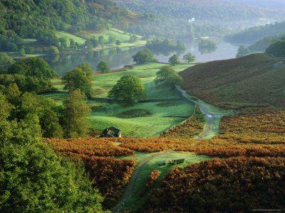 Rydal Water, Lake District National Park, Cumbria, England, UK