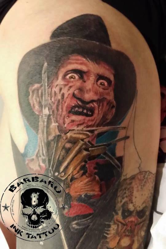 #tattoo #tattooist #tattoolife #tattooartist #tattoofreakz #tattoolifemag #tattooistartmag #tattooed_body_art #tattooistartmagazine #thebesttattooartists #thebestpaintattooartists #inkedmag #inkfreakz #crazytattoos  #tattooalmeria #tattooed #terrortattoo #colortattoo #freddykruegertattoo #nightmare #elmstreet
