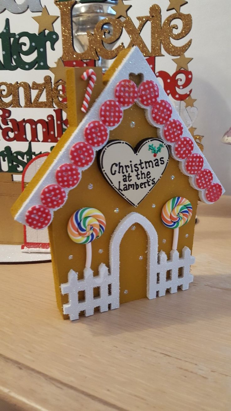 Gingerbread house available to order on www.thefairiesworkshop.co.uk