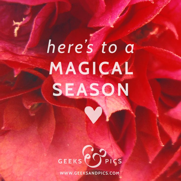 Here's to a magical season. http://www.geeksandpics.com/