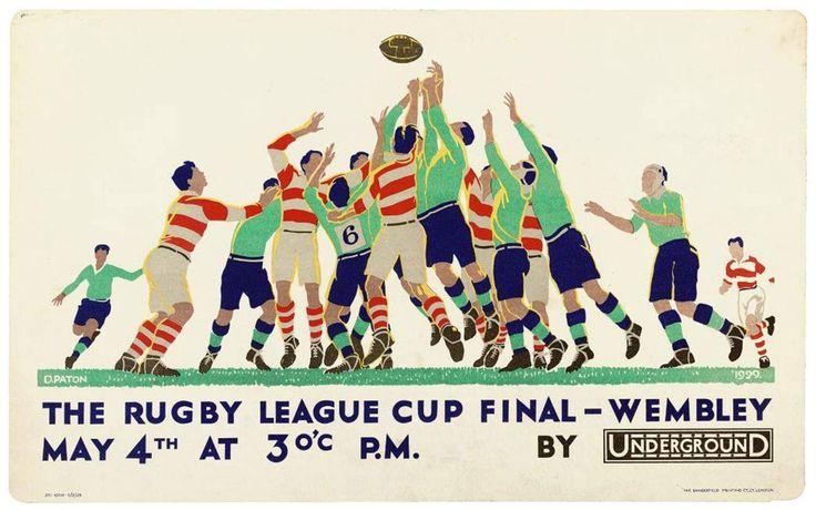Final de la Copa de la Liga de Rugby - Wembley 4 Mayo 1929