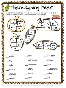 68 best images about Word Puzzles on Pinterest | Thanksgiving, The ...