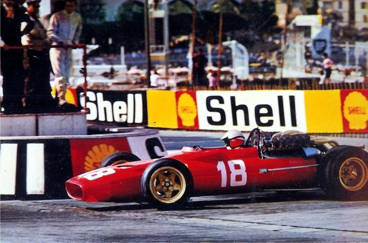 Ferrari 312 F1 67 V12 36v at Monaco 1967, driven by Lorenzo Bandini, on his way to the fatal accident while running 2nd. The turn was named Gazometre.