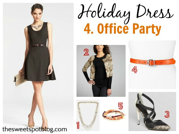 1 Holiday Cocktail Dress x 4 Ways: Office Party by The Sweet Spot Blog  http://thesweetspotblog.com/1-holiday-cocktail-dress-4-ways/  #holidayparty #party #cocktaildress