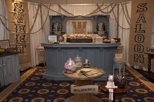 Decoration, Creative Romantic Home Bar With Sweets Indeed Created Saloon Style Decoration And Filled The Room With Lots Of Candies And Desserts Also Treats For Private Wedding Celebration Ideas ~ Simple Romantic Room Ideas to Bring Serene Mood into Your Room