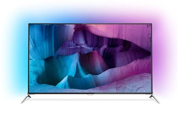 Un televisor Philips 4K con Android TV de línea 7100