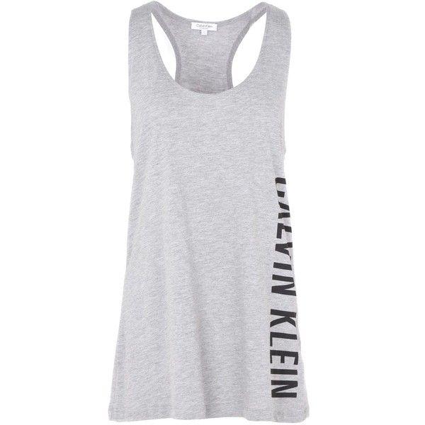 Calvin Klein Beach Dress (770 MXN) ❤ liked on Polyvore featuring dresses, grey, beach dresses, jersey dress, calvin klein and calvin klein dresses