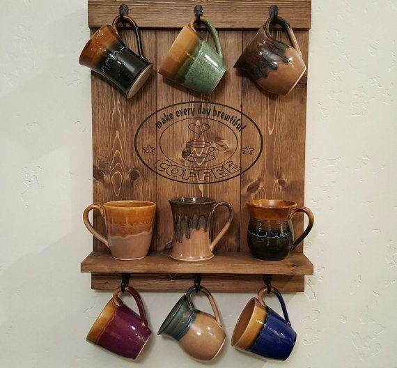 best 25 coffee mug display ideas on pinterest under cabinet coffee maker hanging mugs and. Black Bedroom Furniture Sets. Home Design Ideas
