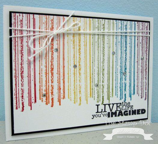 "Stampin"" Up! ""Gorgeous Grunge"" stamp set = Rainbow Card"